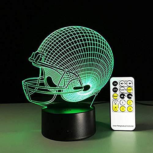 Nachtlicht Baseball Football Helm Nachtlicht Illusion Licht Stimmung Licht Touch 7 Farbe Hause Lampe Party Dekoration