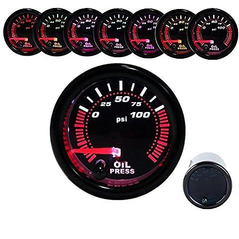 Öltemperaturanzeige Öl Temperatur Anzeige Instrument SMOKE 7 Led Fabe mit Geber