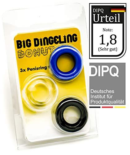 DONUT by BIG DINGELING, Penisring und Cockring 3erSet, verschiedene Farben