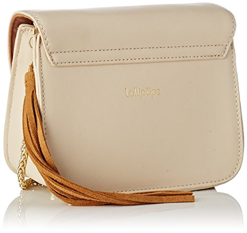 Lollipops Damen Bunglea Side Schultertasche, 8x14x18 centimeters Elfenbein (Off White)