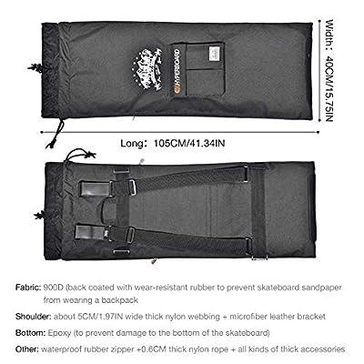 Xploit Skateboard Tasche Elektro Skateboard Tasche Skateboard Rucksack Multifunktionales Design Professionelle Schulter Doppelwippe Elektro Kordelzug Tasche