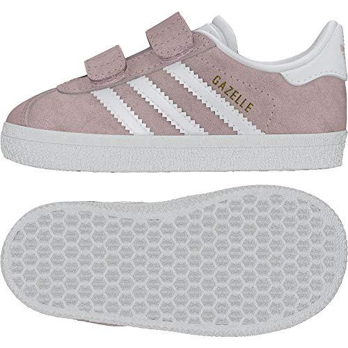 adidas Unisex-Kinder Gazelle Fitnessschuhe, Pink (Roshel Ftwbla 000), 26 EU