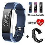 Lintelek Fitness Armband Fitness Tracker wasserdichter IP67-Schrittzähler Aktivitäts-Tracker für Herzfrequenzmonitor mit angeschlossenem GPS-Tracker, Schrittzähler, Schlafmonitor,Fitness Uhr
