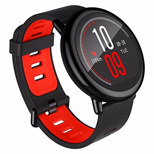 SmartWatch Amazfit Fitness Tracker Heart Rate Monitor GPS Sports Smart Watch Bluetooth WiFi Dual 512MB/4GB Activity Tracker Bluetooth Pedometer with Sleep Monitor Bracelet for iPhone 7 7 Plus 6 Samsung S8 and Other Android or iOS Smartphones (English Version) Red / Black by Gshopper?