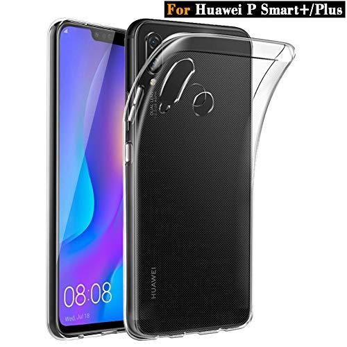 Huawei P Smart Plus Hülle, ViViSun Transparent Silikon TPU Schutzhülle Case Handyhülle für Huawei P Smart+