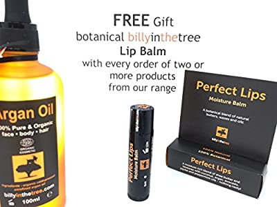 Pure Argan Oil 100ml. 100% Pure and EcoCert Certified Organic. For Face, Body, Hair and Nails. Cold-Pressed, Premium Quality, Moroccan Oil. by Billy in the Tree Ltd