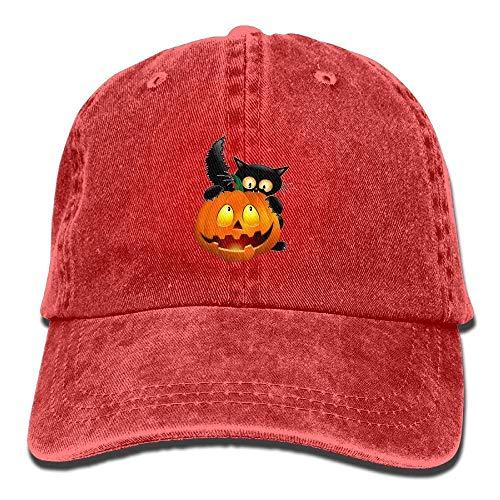 t Pumpkin Unisex Washed Adjustable Cowboy Hut Denim Baseball Caps Multicolor87 ()