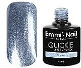 Emmi-Nail Quickie Stardust: UV-Nagellack in glitzerndem Hellblau, ohne Schwitzschicht, kein Unter- und Überlack erforderlich, 7.5 ml