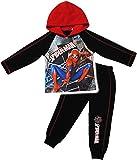 alles-meine.de GmbH 2 TLG. Set _ Jogginganzug / Hausanzug - Fleece gefüttert -  ultimative Spider-Man  - Größe: 2 Jahre - Gr. 92 - mit Kapuze - Warmer Langer Pyjama / Trainings..