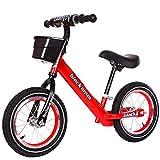Laufräder Kind Balance,Abnehmbar Schiebetüren schiebetüren Doppel-Rad Pedal Passt Sich an 2-3-7 Jahre alt-Rot 12inch