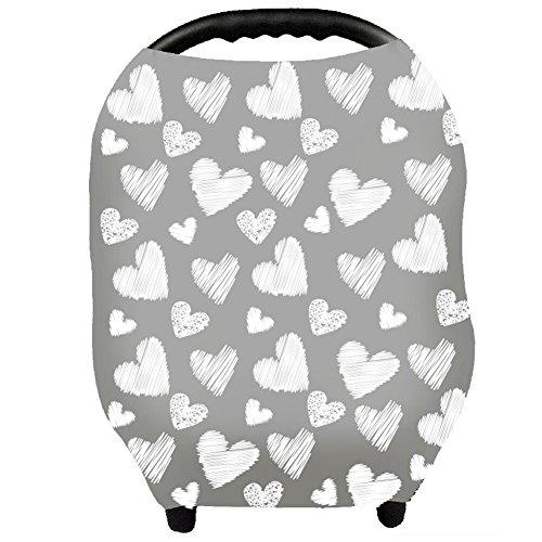 Stilltuch Stillschal für Unterwegs Weich Nursing Cover Atmungsaktive Warenkorb Swaddle Decke Pflegeabdeckung für Baby Mutter von YOOFOSS