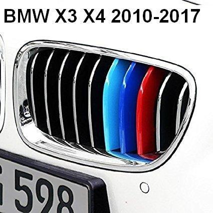 x3X42010–2017M Power insurts Motorhaube Kapuze Nieren Kühlergrill Streifen Clip im Bezug Decor M Sport Tech 3Farbe (Motorhaube Streifen)