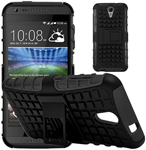 G-Shield Hülle für HTC Desire 620/620g Stoßfest Schutzhülle mit Ständer - Schwarz