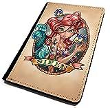 Tattoo Ariel inspiriert. Passport Cover/Halterung. Travel Schutz für Ihr Passport. Cartoon Prinzessin