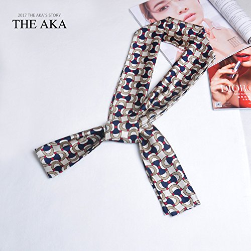 Stilvolle Seidenschal Mode städtischen Frauen im Frühjahr und im Herbst kleine Schal Stil Krawatte 2-seitig Krawatte Satin Schal Dekoriert in Long Beach Handtücher, Bettwäsche Handtücher, langer Schal