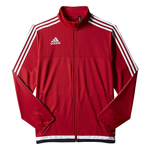 Adidas Herren Fußball Tiro 15Training Jacke Power Red/White/Black