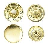GETMORE Parts Druckknöpfe S-Feder, Stahl, 100 Stück - Gold, 15 mm