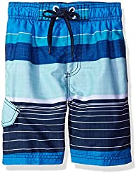 Kanu Surf Big Boys Viper Stripe Swim Trunk, Navy, X-Large (18/20)