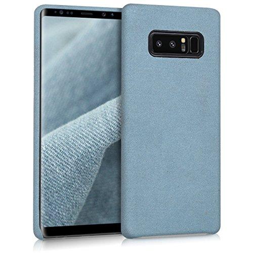 kwmobile Hülle für Samsung Galaxy Note 8 DUOS - Case Handy Schutzhülle Stoff - Backcover Cover Mikrofaserstoff Blaugrau
