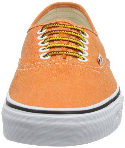 Vans U AUTHENTIC (WASHED) BLACK VVOE4JT Unisex-Erwachsene Sneaker Orange ((Washed) vibran)