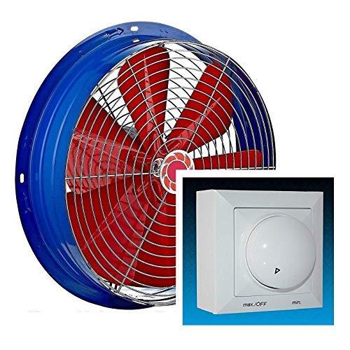 600 mm Ventilador Industrial con 500W Regulador de Velocidad Ventilación Metal Extractor...
