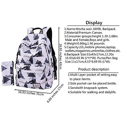 Kinder Mädchen Schultaschen weir Taschen Rucksack Schultern Hellgrau reisen Pack Hochschule Canvas Laptop Hellgrau Mocha JIAYBL FWBq1nHqC