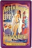 Blechschild PinUp sexy Girl Whisky 20 x 30cm Reklame Retro Blech 158