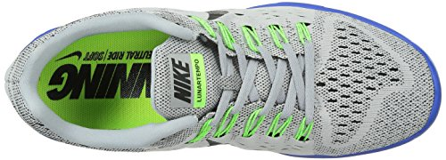 Nike Lunartrainer, Chaussures de Running Compétition Homme Grau (Wolf Grey/Black-Game Royal-Flash Lime)