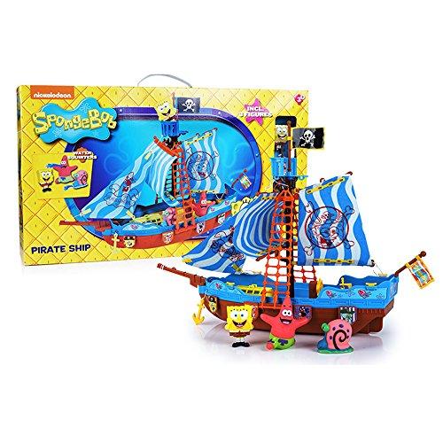 Simba Bob Esponja - Barco pirata, incluye figura de Sponge Bob, Gary y