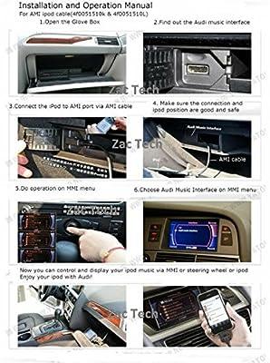 AMI MDI to USB and 3.5MM Aux MP3 Music Stereo Audio Car Cable Lead Cord Adapter for MMI 3G System USB Flash Drive/Thumb Drive/Pendrive/Smartphone/Tablet Connect Audi A3/A4/A5/A6/A8/S4/S6/S8/Q5/Q7/R8/TT and Volkswagen Jetta/GTI/GLI/Passat/CC/Tiguan/Touareg