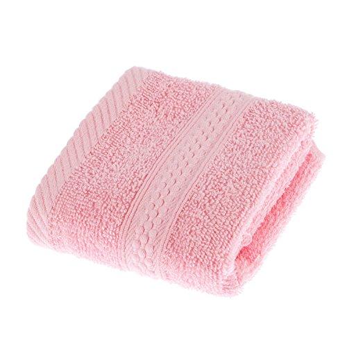 Homescapes Flauschiges Premium Frottee Gästetuch ca. 30 x 30 cm Gästehandtuch aus 100% reiner Baumwolle, rosa