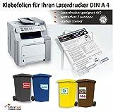 weiße Klebefolien für Laserdrucker, 10 Bögen DIN A4, farbig bedruckbar, für den Außenbereich, wetterfest mit starke Haftung!