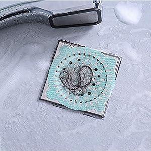 WOZOW Filtro per lavello da Cucina Bagno Anti-Blocco per Capelli One-Time Filtro per Piscina a Pavimento 10 Pezzi