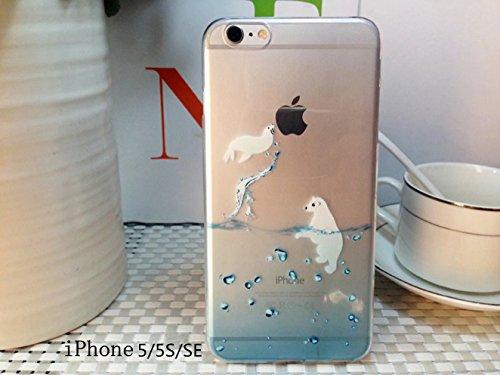 Cover iPhone 6 Plus Custodia telefono creativo trasparente silicone Guscio morbido Anti Graffio Copertura protettiva Anti-polvere paraurti Si applica a iPhone 6/6S Plus(5.5) disegno-15