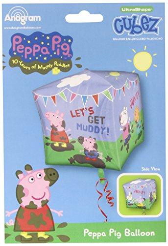 amscan Peppa Pig and Friends Folienballons, 38 cm