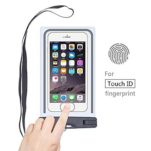 Pochette étanche IPX8,Keyye Étui téléphone étanche/Housse Étanche Universal Sachet dec sous-marin pour iPhone 7 iPhone 6 / 6S / 6S Plus, SE / 5S, Wiko, Samsung Galaxy S7, S6 Note 5 4,etc,noir