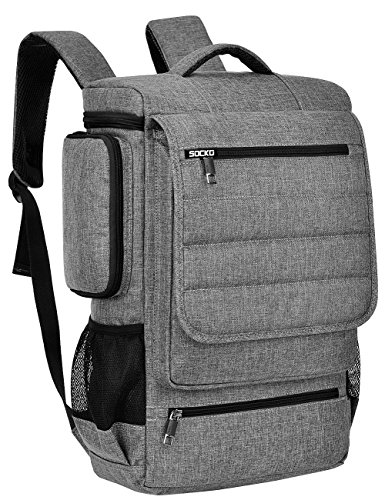 Brinch Laptop Rucksack, geräumig Schulrucsack Reise College Knapsack Outerdoor Backpack Studenten Rucksack Hikingtasche für 17-17,3 Zoll Laptop/Notebook / MacBook Computer, Grau-schwarz