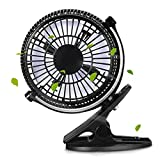YUNGUANG Tragbare Gear Wippschalter Mini Desktop Fan Clip Desktop Leiser Lüfter USB Power Cooling Flexible Computer Fan (Color : Schwarz)