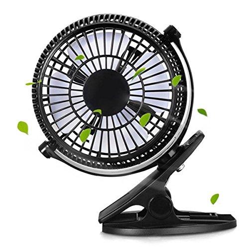 YUNGUANG Tragbare Gear Wippschalter Mini Desktop Fan Clip Desktop Leiser Lüfter USB Power Cooling Flexible Computer Fan (Color : Schwarz)