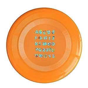 EVALY Frisbee Orange, One Size : EVALY Ocean Alphabet Poster 150 Gram Ultimate Sport Disc Frisbee Yellow
