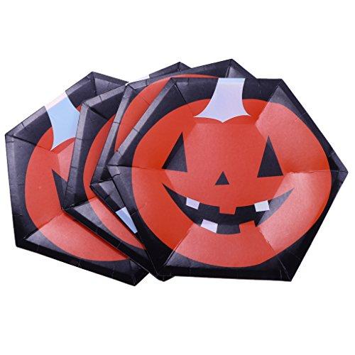 een Hexagon Pappteller Party Geschirr Dekor DIY - Kürbis, 10 Zoll (Cupcakes Halloween Kürbis Kind)