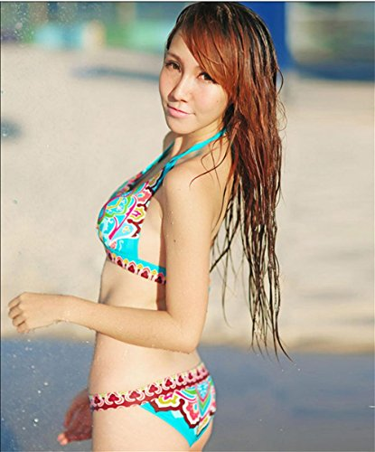 BUSL Printed Triangel-Bikini Set Green