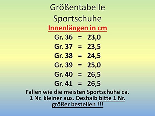 GIBRA® Damen Sportschuhe, sehr leicht und bequem, dunkelblau/orange, Gr. 36-41 Dunkelblau/Orange