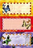 Herma 5574 Buchetiketten Schule, Motiv Schmetterlinge, Inhalt: 6 Schuletiketten für Schulhefte, Format 7,6 x 3,5 cm, beglimmert