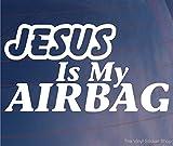 Best Bumper Stickers - JESUS IS MY AIRBAG Funny Religious Car/Van/Bumper/Window JDM Review