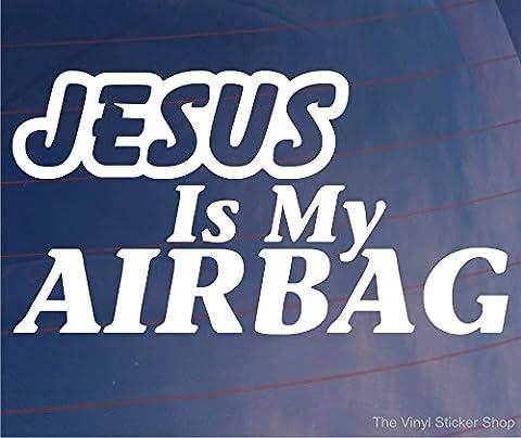 Jésus est My airbag religieuse voiture/Van/pare-chocs/fenêtre JDM Sticker vinyle en Euro