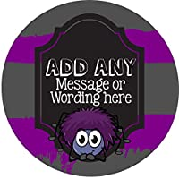 Creepy Crawlies Spider Sticker Labels (24 Stickers, 4.5cm Each) Personalised Seals Ideal for Party Bags, Sweet Cones, Favours, Jars, Presentations Gift Boxes, Bottles, Crafts