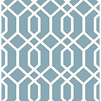 Brewster Wallcovering Co FD23272 Trellis Blue Montauk Wallpaper, by Brewster Wallcovering Co