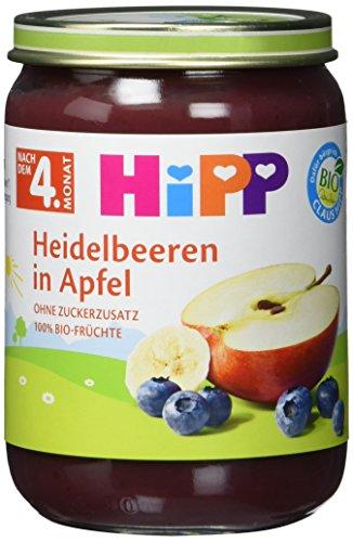 Hipp Heidelbeeren in Apfel, 6er Pack (6 x 190g)
