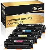 Arcon Kompatible Tonerkartusche für HP 410X CF410X CF411X CF412X CF413X HP 410A CF410A HP410A HP410X HP Color Laserjet Pro M477 M477FDW M477FDN M477FNW M452 M452DN M452DW M452NW M377 M377DW Toner